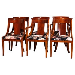 Six Vintage Flame Mahogany Gondola Dining Chairs by Baker Furniture 20th Century