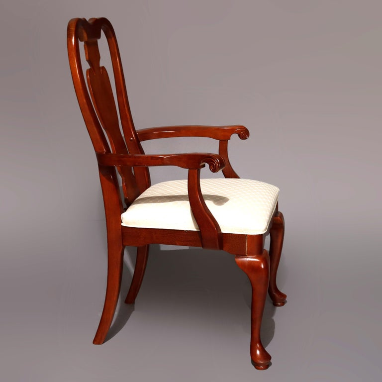 Six Vintage Pennsylvania House Style Cherry Queen Anne Style Dining Chairs 4