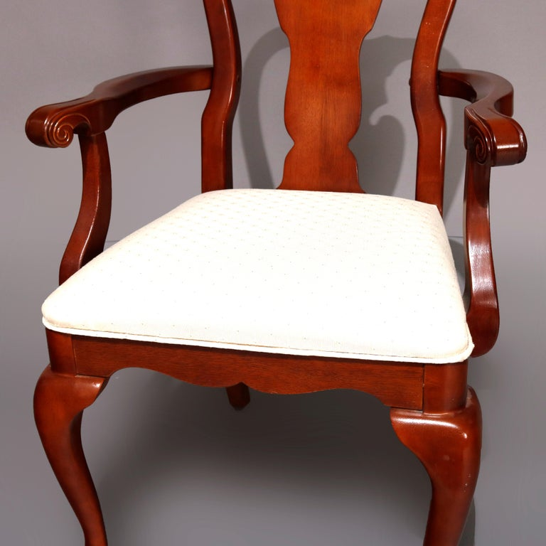 Six Vintage Pennsylvania House Style Cherry Queen Anne Style Dining Chairs 5