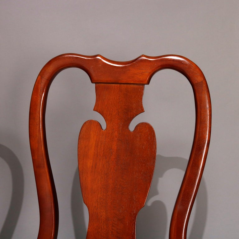 Six Vintage Pennsylvania House Style Cherry Queen Anne Style Dining Chairs 7
