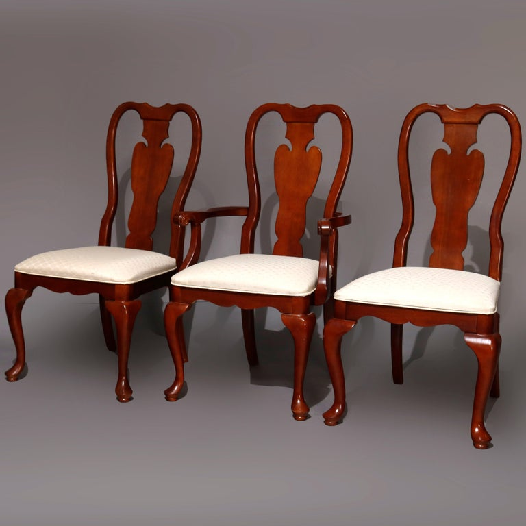 American Six Vintage Pennsylvania House Style Cherry Queen Anne Style Dining Chairs