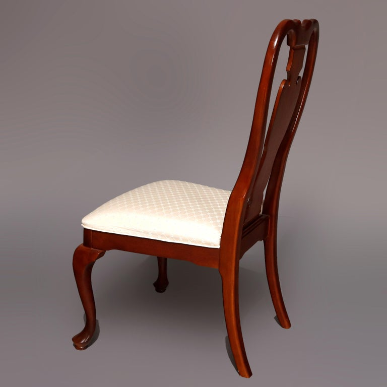 Six Vintage Pennsylvania House Style Cherry Queen Anne Style Dining Chairs In Good Condition In Big Flats, NY
