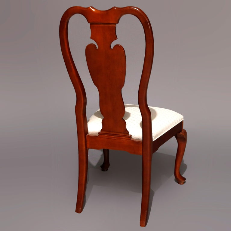 20th Century Six Vintage Pennsylvania House Style Cherry Queen Anne Style Dining Chairs
