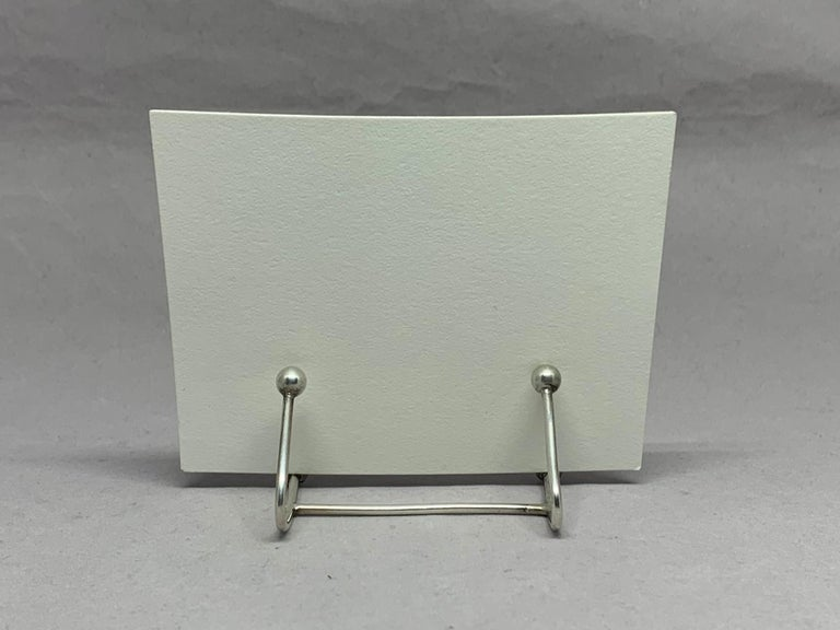 Six Vintage Sterling Silver Place Card Holders In Good Condition For Sale In New York, NY