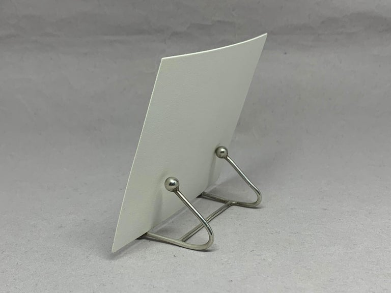 20th Century Six Vintage Sterling Silver Place Card Holders For Sale