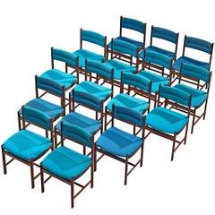 Sixteen Customizable Danish Dining Chairs in Rosewood