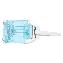 Sixties Aquamarine Ring