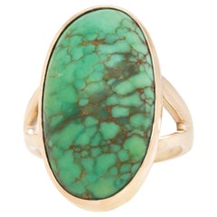 Sixties Turquoise and Gold Ring