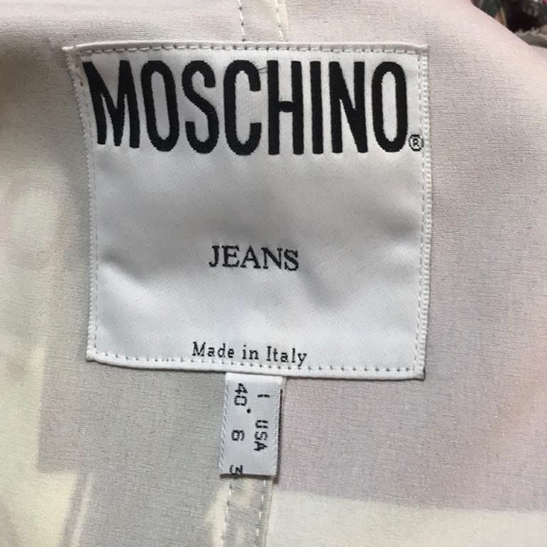 Size 6 Moschino Jeans Rome Blazer Stretch Satin For Sale 3