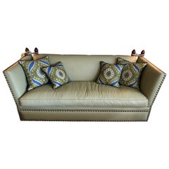 Sizzling Hot Very Large Luxe Lime Leather George Smith Knole Style Sofa