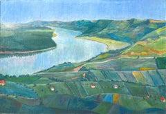 Along The Danube Landscape, 1957