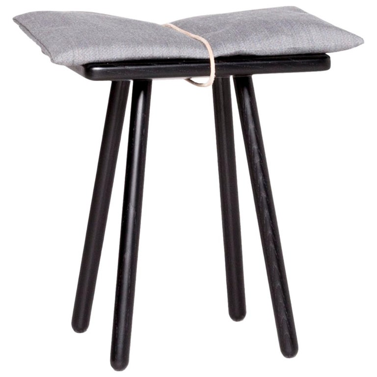 Tremendous Skagerak Georg Designer Wood Fabric Stool Black Gray Inzonedesignstudio Interior Chair Design Inzonedesignstudiocom