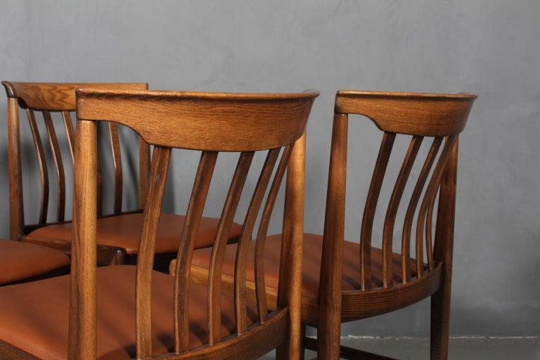Scandinavian Modern Skaraborgs Møbelindustri, Four Dining Chairs For Sale