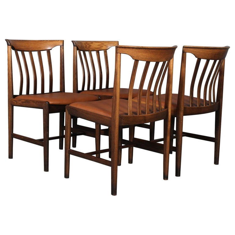 Skaraborgs Møbelindustri, Four Dining Chairs For Sale