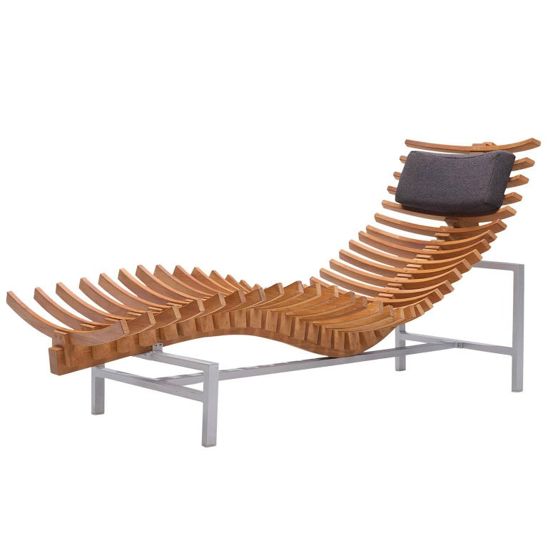 Skeleton' Chaise Longue in Teak For Sale at 1stdibs on chaise recliner chair, chaise furniture, chaise sofa sleeper,
