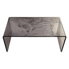 Sketch Bridge Coffeetable Made of Grey Acrylic Design Roberto Giacomucci in 2020