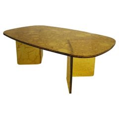Sketch Coffee Table Made of Yellow Acrylic Design Roberto Giacomucci in 2020