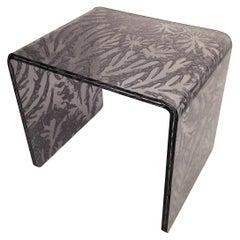 Sketch Mini Ponte Side Table Made of Grey Acrylic Design Roberto Giacomucci 2020
