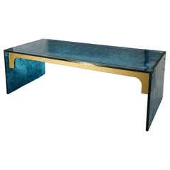 Sketch Quadro Coffee Table Made of Green Acrylic Des, Roberto Giacomucci in 2020