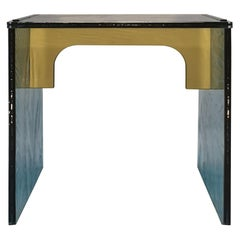 Sketch Quadro Side Table 1 Made of Green Acrylic Des, Roberto Giacomucci in 2020