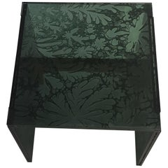 Sketch Quadro Side Table 1 Made of Green Moss Acrylic Des, Roberto Giacomucci