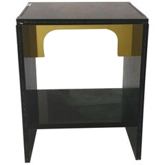 Sketch Quadro Side Table 2 Made Green Moss Acrylic D. Roberto Giacomucci in 2020