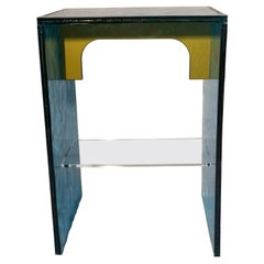 Sketch Quadro Side Table 2 Made of Green Acrylic Des. Roberto Giacomucci in 2020