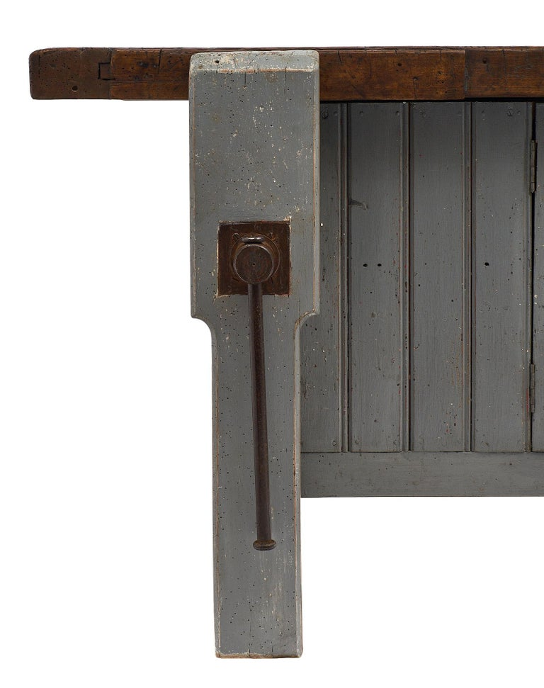 'Ski Crafting' French Antique Workbench In Good Condition For Sale In Austin, TX