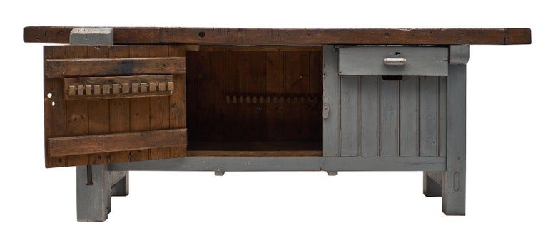 Iron 'Ski Crafting' French Antique Workbench For Sale