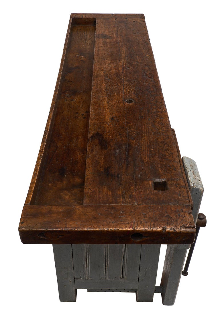 'Ski Crafting' French Antique Workbench For Sale 1