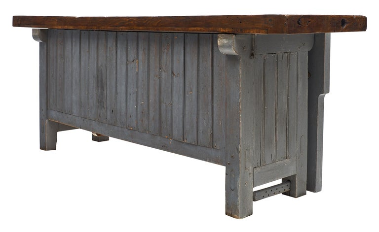 'Ski Crafting' French Antique Workbench For Sale 3
