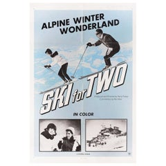 'Ski for Two' 1960s U.S. One Sheet Film Poster