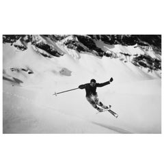 Ski Photography, Quersprung, Alpine Ski Photograph, Image from the 1930s