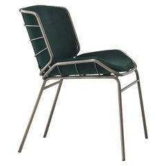 Skin Chair, gray and green, home, contract, indoor, chair, made in Italy.