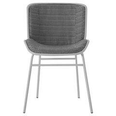 Skin Chair, Gray and White, Home, Contract, Indoor, Chair, Made in Italy