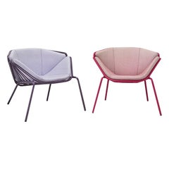 Skin Lounge Grey and Pink Fabric Purple Metal Giacomo Cattani Indoor Outdoor