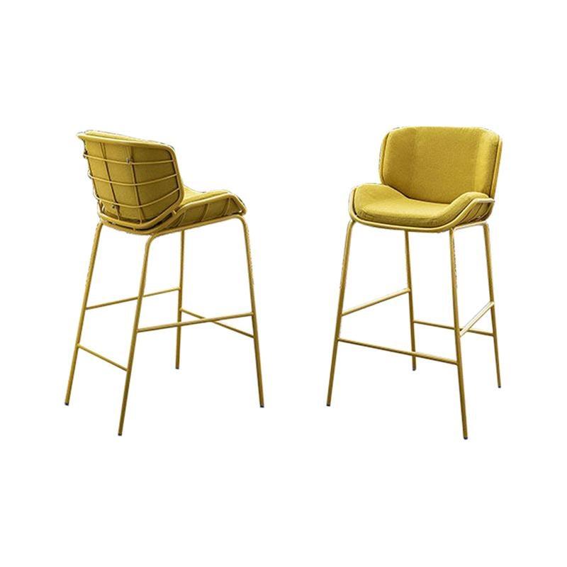Skin Stool, yellow, metal, fabric, indoor, outdoor.