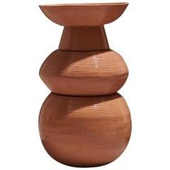 Skin Vase in Glazed Ceramic