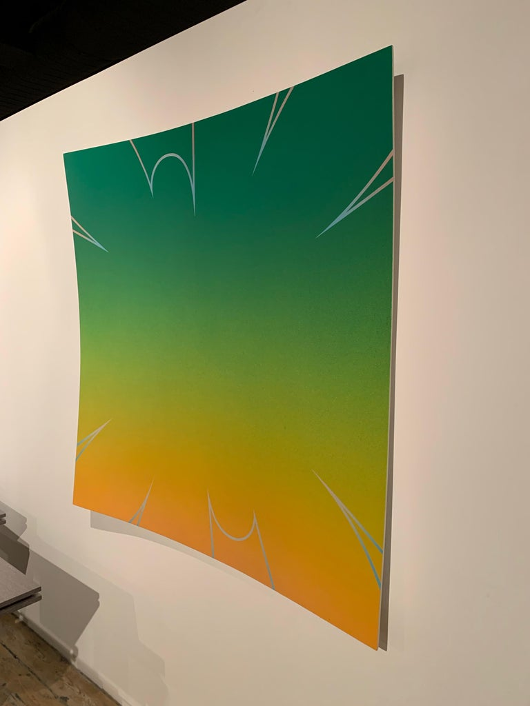 """""""Skip"""", a Modern Painting by Yek, Acrylic Latex and Enamel on Panel In Excellent Condition For Sale In New York, NY"""