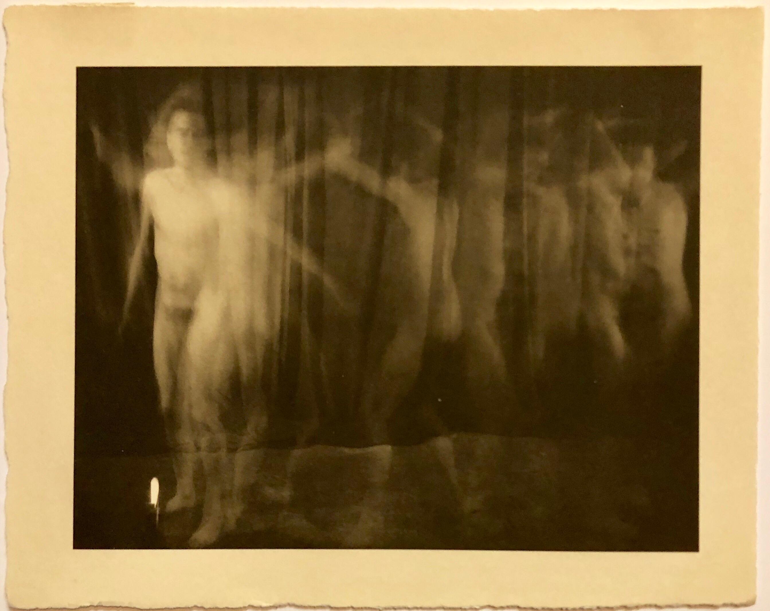 Vintage Photograph Male Nude Platinum Print Photo 'Ring Around the Rosie'