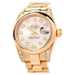 Skip to the End of the Images Gallery Rolex President Datejust Ladies 18K Gold
