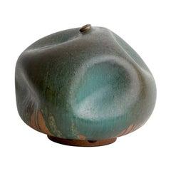 Skoby Joe Bronze Handmade Ceramic Vase Wabi Sabi/ Mid-Century Modern Sculpture