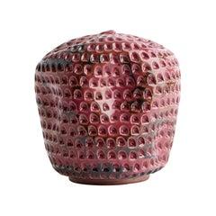 Skoby Joe Carved Ceramic Vase, Interior Sculpture, Handmade Textured Vessel