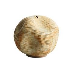 Skoby Joe Small Textured Ceramic Vessel Wabi Sabi Mid-Century Modern Sculpture
