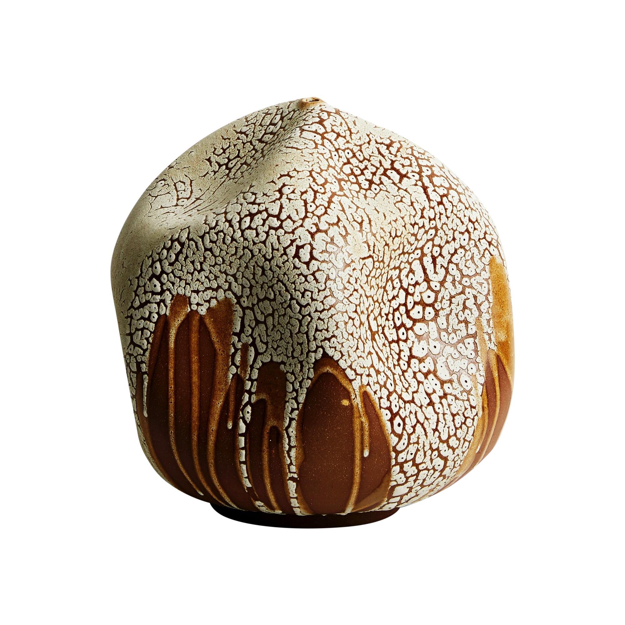 Skoby Joe Textured Ceramic Vessel Wabi Sabi Mid-Century Modern Sculpture