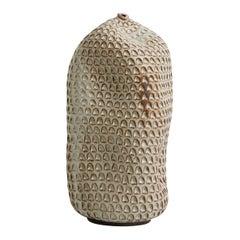 Skoby Joe Tall Ivory Textured Handmade Ceramic Vase Wabi Sabi