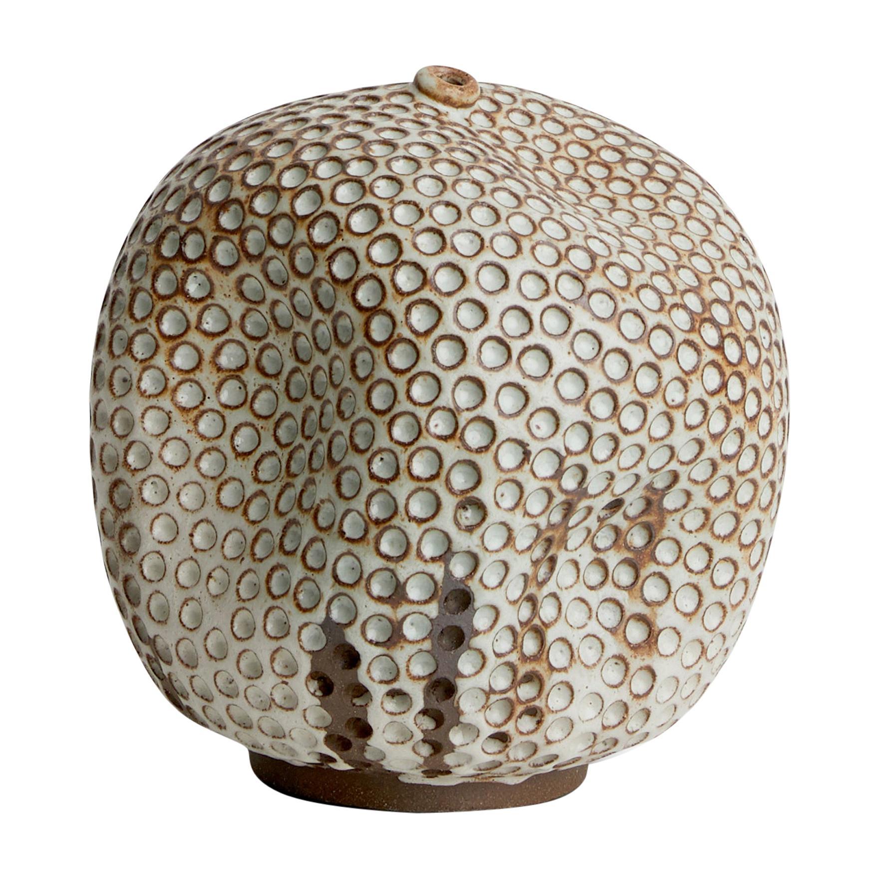 Skoby Joe Textured Handmade Ceramic Vase Wabi Sabi Mid-Century Modern Sculpture