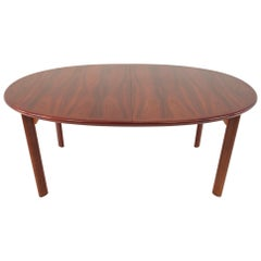 Skovby Mid Century Rosewood Dining Table with 3 Leaves