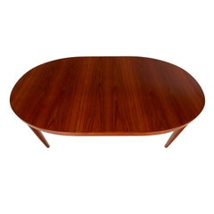 Skovmand Andersen Vintage Danish Teak Oval Dining Table