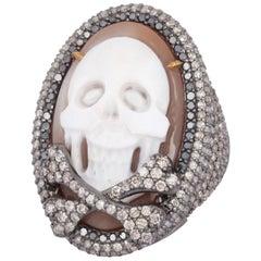 Skull Diamond Cocktail Ring